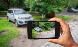 Штраф с камеры за парковку на газоне