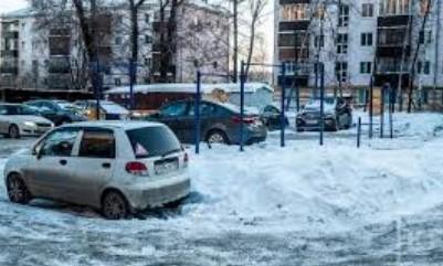 Штраф за парковку на газоне зимой