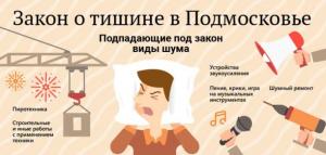 Нормы закона о тишине Москве и в Московской области